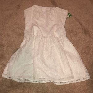 Lily Pulitzer strapless white lace dress